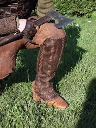 floki leather shin guards viking leg protection meval image 0
