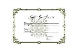 Plain Gift Certificate Template 30 Blank Gift Certificate Templates Doc Pdf Free Premium