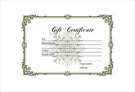 blank gift certificate free pdf template