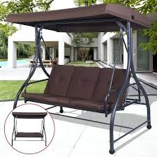 home trends patio furniture. Patio Furniture Swing Converting Outdoor Canopy Hammock 3 Seats Deck Brown . Home Trends