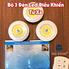 Video Ảnh Thật] Bộ 3 Đèn Led Điều khiển từ xa có remote hẹn giờ bật tắt, có  tăng giảm độ sáng gắn giường tủ tường tại Hà Nội