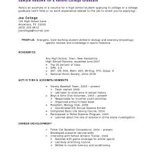 Sample Resume For High School Students With No Work Experience Formidable High School Student Resume Templates No Work Experience 18