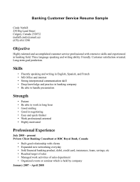 Banking Customer Service Resume Template Resume Cover Letter