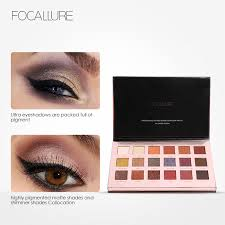 focallure 18pcs highly pigmented glitter eye shadow flash shimmer eyeshadow with matte colors easy to wear eye daily makeup whole shimmer eyeshadow