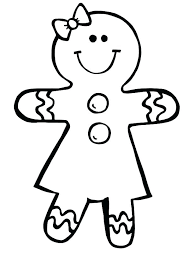 Gingerbread Man Coloring Page Template Gingerbread Man Coloring