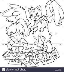 Sad Anime Little Girl Cartoon Character Coloring Pages Printable 13