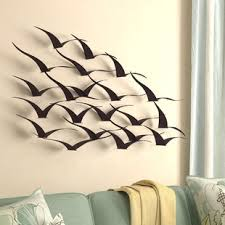 birds wall d cor on outdoor beachy wall art with nautical metal wall art you ll love wayfair