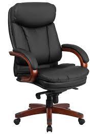 btod high back leather office chair gany wood base