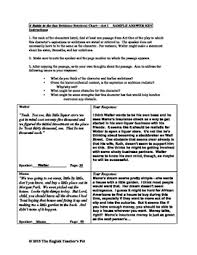 A Raisin In The Sun Character Chart Answer Key A Raisin In The Sun Character Organizers And Answer Key
