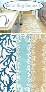 coastal bathroom rugs coastal bathroom rugs c rug runners the look beach coastal bath rug