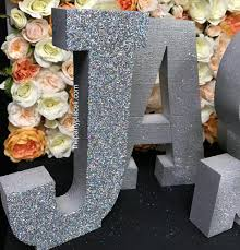 beautiful foam letters freestanding available for purchase or