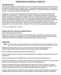 senior executive medical director job description service director job description