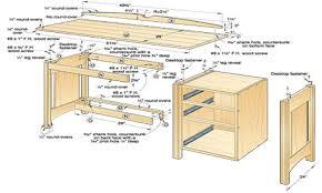 ... Image Of Wooden Desk Plans Full size