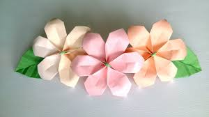 Paper Folded Flower Origami Flower Ute And Easy Paper Flowers For Decoration