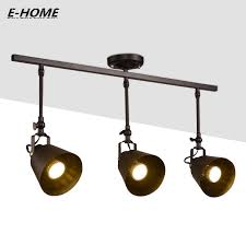small track lighting fixtures. Adjustment Track Lighting Small Angle Retro Industrial Wind Restaurant Bar Clothing Store Led Spotlights E27 110V 240V 220V-in From Lights Fixtures