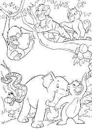 Colouring Pages Jungle Animals L L L L L L L L L