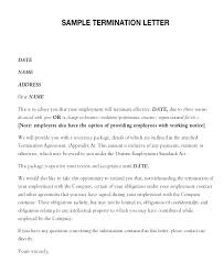 Sample Of A Termination Letter To An Employee How To Write Termination Letter Best Ideas Of Employee Contract On