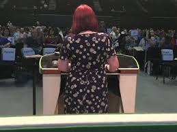"""Heather Wakefield on Twitter: """"Inez Kirk from UNISON Scotland arguing for  stronger trade union facility rights and highlighting East Dunbartonshire  UNISON's successful ballot for industrial action to oppose cuts. Solidarity  with them.…"""