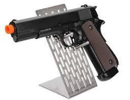 Handgun Display Stand CA100 Metal Pistol Display Support Stand Airsoft Handgun Rack 19