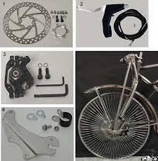 fork disc brake kit