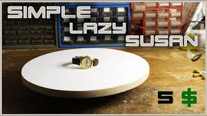make a simple rotating table lazy susan