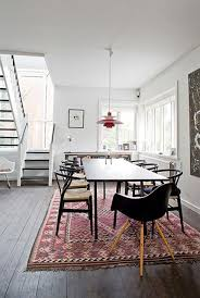 rug under dining room table. 25+ stunning picture for choosing the perfect kitchen rugs. wishbone chaireames chairseames eiffel chairdining arearug under dining tabledining room rug table