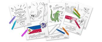 For these sets, you basically print two copies of each set (in color) and laminate them for durability. Compassion Explorer Printable Coloring Book Compassion Explorer