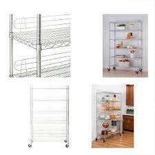 ecostorage standing shelf units 6 tier nsf wire shelving rack with wheels 48 by