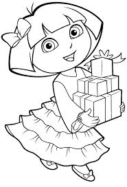 Dora Coloring Sheet The Explorer Coloring Page The Explorer