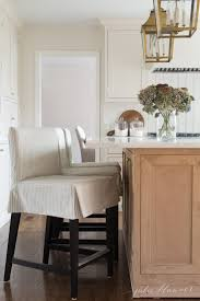 slipcovered counter stools. Counter Height Stools From Ikea With Custom Ticking Stripe Slipcovers Slipcovered Julie Blanner