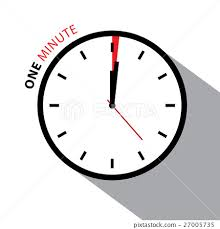 1 Minute Countdown One Minute Clock Stopwatch Countdown Stock Illustration