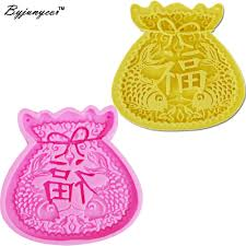 Money bag with Double <b>Fish Silicone</b> Cake Moulds Wedding Party ...