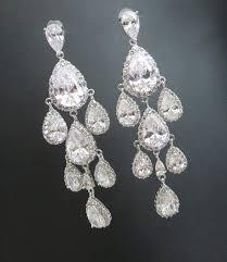 crystal wedding earrings crystal bridal earrings chandelier earrings teardrop crystal earrings wedding jewelry bridesmaid earrings