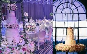 suspended wedding cake by the caketress left image right from cami jane photography