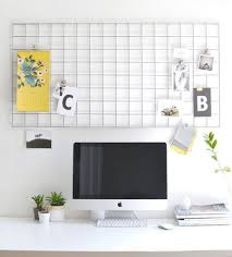 Clever office organisation 29 diy office table Oficina Diy Metal Memo Board The Spruce Crafts 42 Diys For Beautiful Organized Office