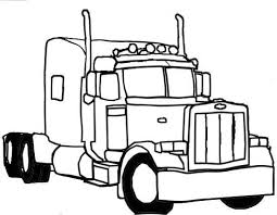 Small Picture Printable 33 Semi Truck Coloring Pages 6831 Semi Truck Coloring