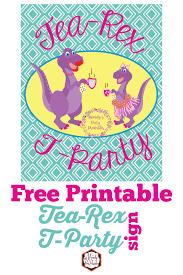 Tea Party Free Printables Girly Tea Rex T Party Dino Lovers Unite