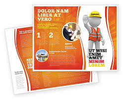 Symbolic Figure Of A Builder Brochure Template Design And