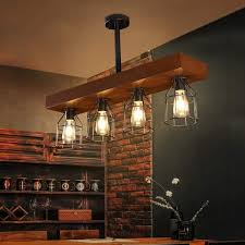 casainc 4 lights wood farmhouse kitchen