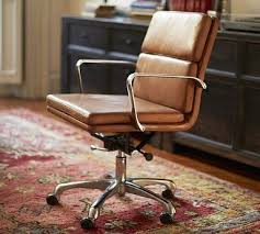 leather swivel office chair. Nash Leather Swivel Desk Chair #potterybarn Like This One A Lot. It Also Looks More Comfortable Thant The Hughes From C \u0026 B Office