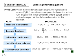 balancing a chemical equation 47 translate the statement