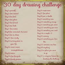 30 day drawing challenge Group Art Pinterest
