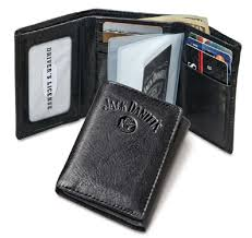 black trifold wallet signature collection