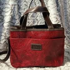 relic purses leather excellent m great red paisley purse with medium image co bag