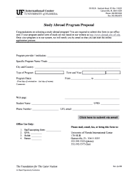 Programme Proposal Template Forms - Fillable & Printable Samples For ...