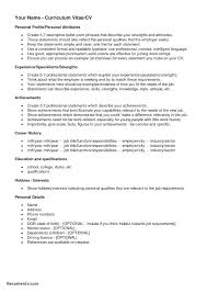 Resume Resume Hobbies And Interests Sample Professional For