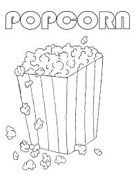 Small Picture Popcorn Coloring Sheet Kids Coloring