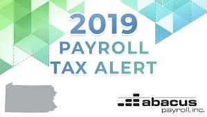 2019 Pennsylvania Payroll Tax Rates Abacus Payroll