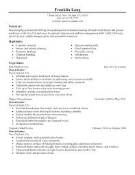 House Cleaner Resume Template House Cleaner Resume Sample