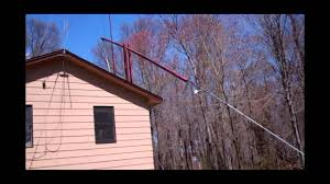 custom built 80 foot tall free standing ham radio tip tower in action this is cool you